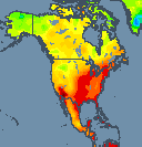 Temperature North America